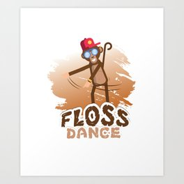 Floss Dance Move Monkey Art Print