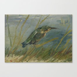 Kingfisher by the Waterside Canvas Print