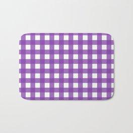 Farmhouse Gingham in Purple Bath Mat