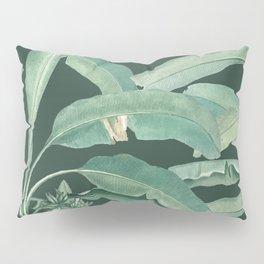 banana leaves dark green Pillow Sham