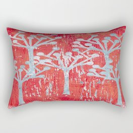 red dot tree forest Rectangular Pillow