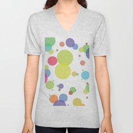 dots and circles Unisex V-Neck