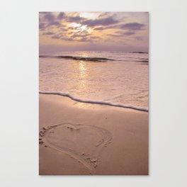 10004 Beach Pastel 2 Canvas Print