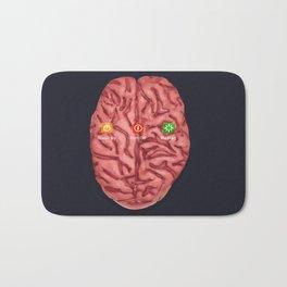 turn off your brain Bath Mat