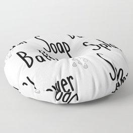 Rae Dunn Inspired Bathroom Floor Pillow