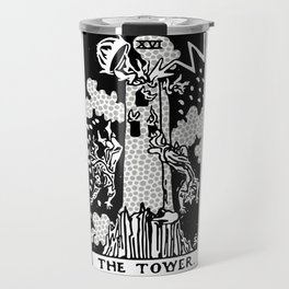 Modern Tarot Design - 16 The Tower Travel Mug