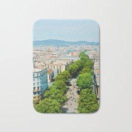 Barcelona from above Bath Mat