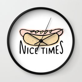 Nice Times Hot Dog Wall Clock