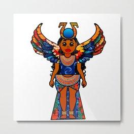 Colorful Egyptian Goddess Isis Metal Print