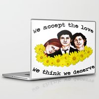 the perks of being a wallflower Laptop & iPad Skins featuring Perks of being a Wallflower by Lydia Dick