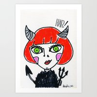 evil Art Prints featuring Evil by Amy Lee
