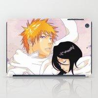 bleach iPad Cases featuring Bleach: Ichigo X Rukia by Neo Crystal Tokyo