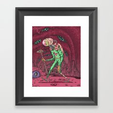 Martian Ghoul Framed Art Print