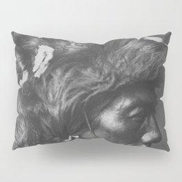 Native American Piegan Warrior, Yellow Kidney, portrait black and white photography Pillow Sham