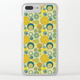 Circle Frenzy - Yellow Clear iPhone Case