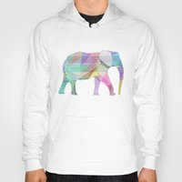 elephant Hoodies featuring Elephant by nessieness