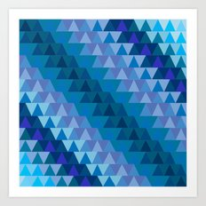 Digital Waves Art Print