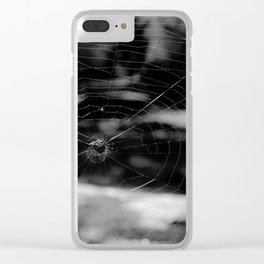Spider Web Black White Clear iPhone Case