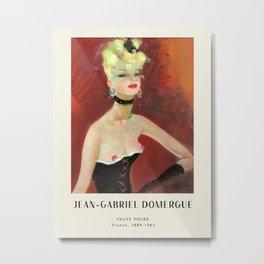 Poster-Jean-Gabriel Domergue-Veuve Noire. Metal Print