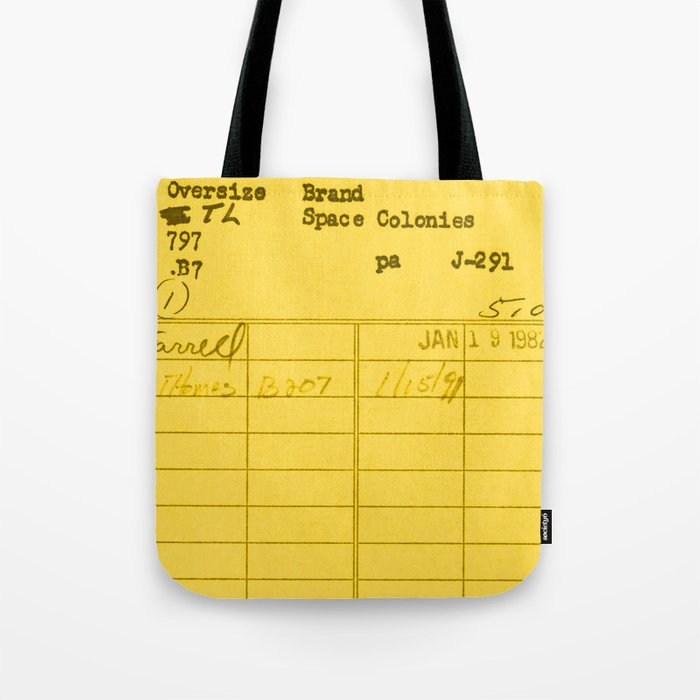Library Card 797 Yellow Tote Bag