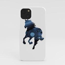 Blue Horse iPhone Case