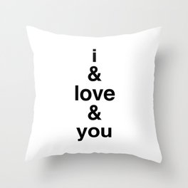 i & love & you Avett Brothers Throw Pillow