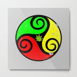 Reggae Love Vibes - Cool Weed Pot Reggae Rasta Metal Print