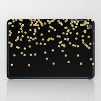 bisexual iPad Cases featuring Sparkling golden glitter confetti on black by Better HOME
