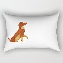 Origami Hound Rectangular Pillow