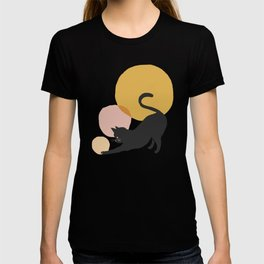 Abstraction_CAT_PLAY_CIRCLE_Minimalism_001A T-shirt