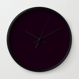 Simply Deep Eggplant Purple Wall Clock