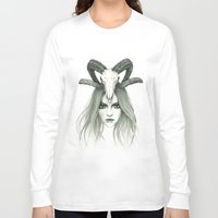 zodiac Long Sleeve T-shirts featuring Zodiac - Aries by Simona Borstnar