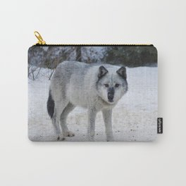 Lone wolf of the Canadian Rocky Mountains Carry-All Pouch