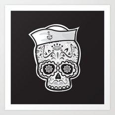 Marinero muerto sugar skull Art Print