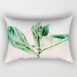 Fiddle leaf - pink pot II Rectangular Pillow