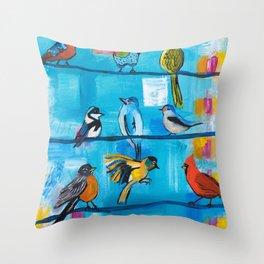 Bird Celebration Throw Pillow