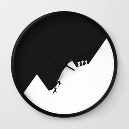 Different path to the top Wall Clock