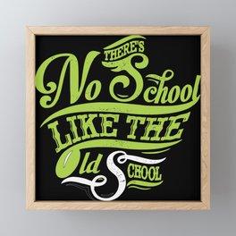 No School Framed Mini Art Print