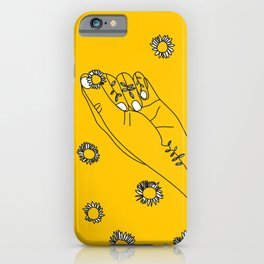 Miss Daisies in Yellow iPhone Case