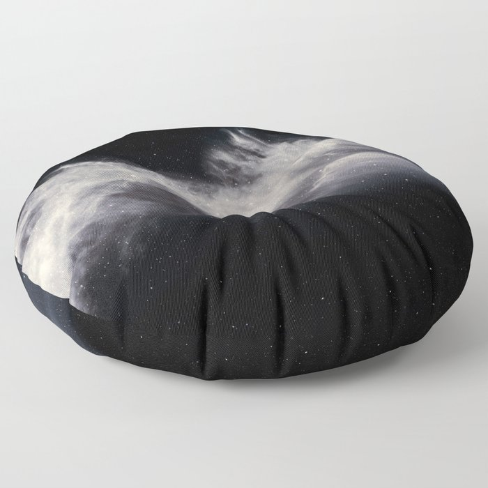 Moon and Clouds Floor Pillow