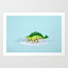 Doily Stegosaurus Art Print