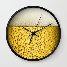 Beer Bubbles 1 Wall Clock