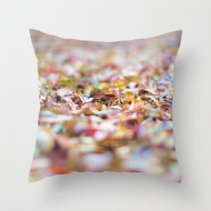 Summer Leaves Abstract Throw Pillow
