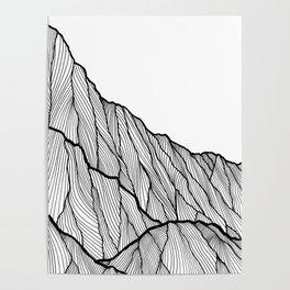 Rock lines Poster