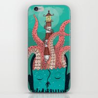 sleep iPhone & iPod Skins featuring Sleep by Arron Croasdell