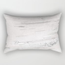 White Birch Wood Rectangular Pillow