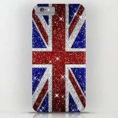 Glitters Shiny Sparkle Union Jack Flag iPhone 6s Plus Slim Case