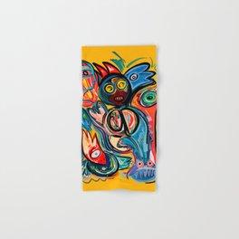 Yellow Life With Birds Street Art Hand & Bath Towel
