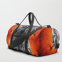 BUDDHA KISS - frame orange black version Duffle Bag