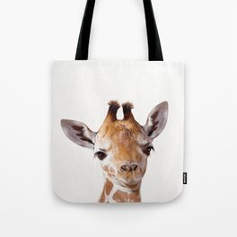 Baby Giraffe, Baby Animal Art Prints By Synplus Tote Bag